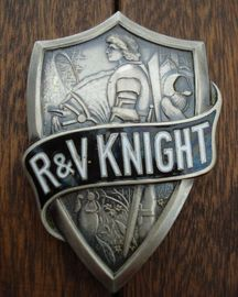 Rv knight radiator emblem large