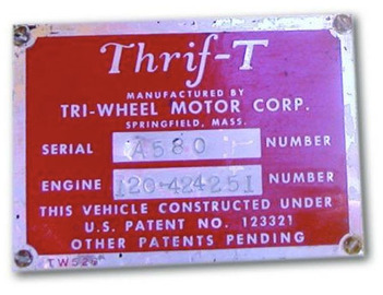Thrif t plaque large