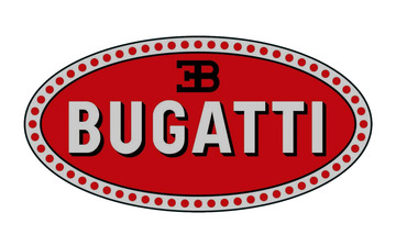 Bugatti cars logo emblem large