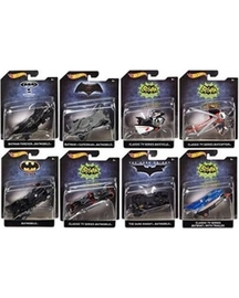 Set of 8 batman series 5 2016 hot wheels 1 50 scale collectible die cast metal toy car models large