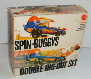1970 mattel spin buggys double dig out set large