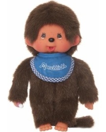 8 blue bib boy monchhichi plush toy large