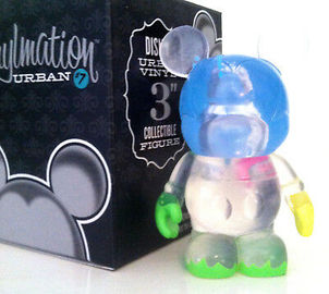 Disney vinylmation 3 urban series 7 clear paint large
