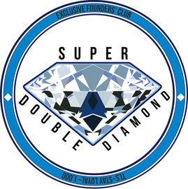 Super double diamond badge large