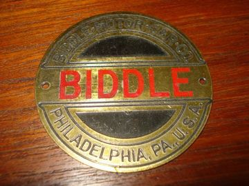 Biddle radiator emblem large