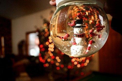 47554 upside down christmas snow globe